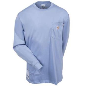 Carhartt 100235-465 Flame Resistant Long-Sleeve Shirt - Medium Blue
