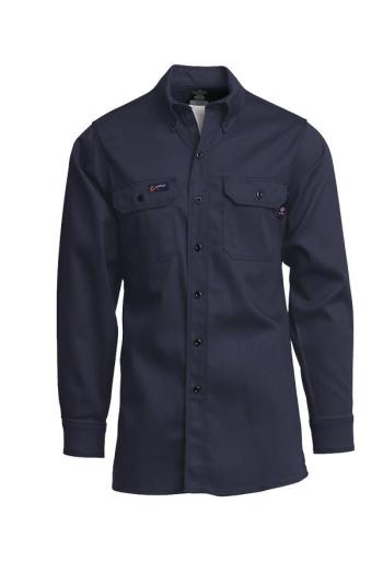 Lapco IXXX7 Men Nvy FR Long Sleeve Button Up