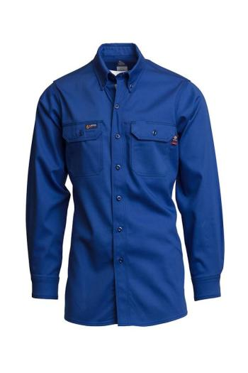 Lapco IXXX7 Mens Royal Blue Long Sleeve Button Up