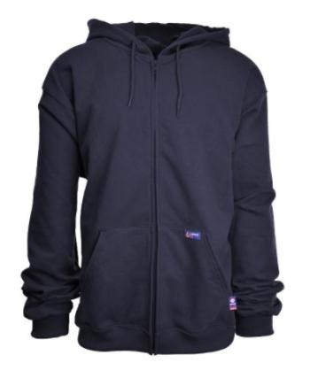 Lapco SWHFR14ZNY Flame Resistant Full-Zip Hooded Sweatshirt