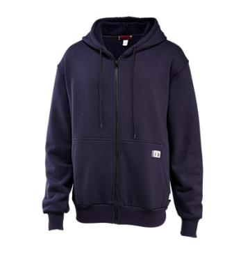 Wolverine 1203310-417 Front-Zip Fleece Hooded Sweatshirt