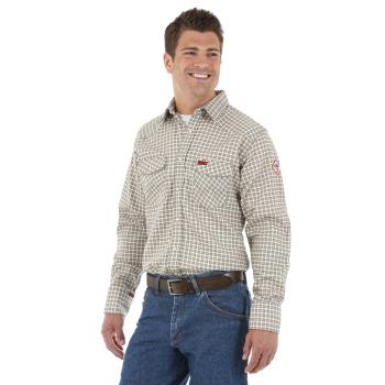 Wrangler FR124MM Flame Resistant Plaid Work Shirt